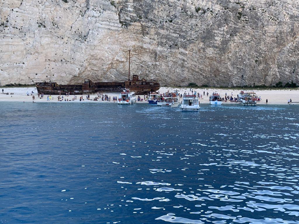 Shipwrack Bay auf Zakynthos